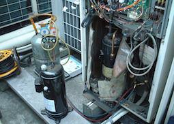 コンプレッサー圧縮機取替え